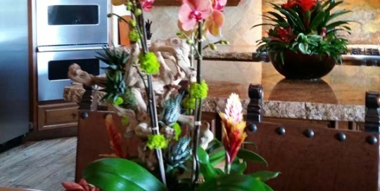 Rancho-Pacifica-Estate-Home-Indoor-Plants-Orchid-Sculpture (3)